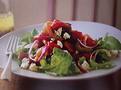 salade de poivrons grill s la ricotta l gumes de saint paul. Black Bedroom Furniture Sets. Home Design Ideas